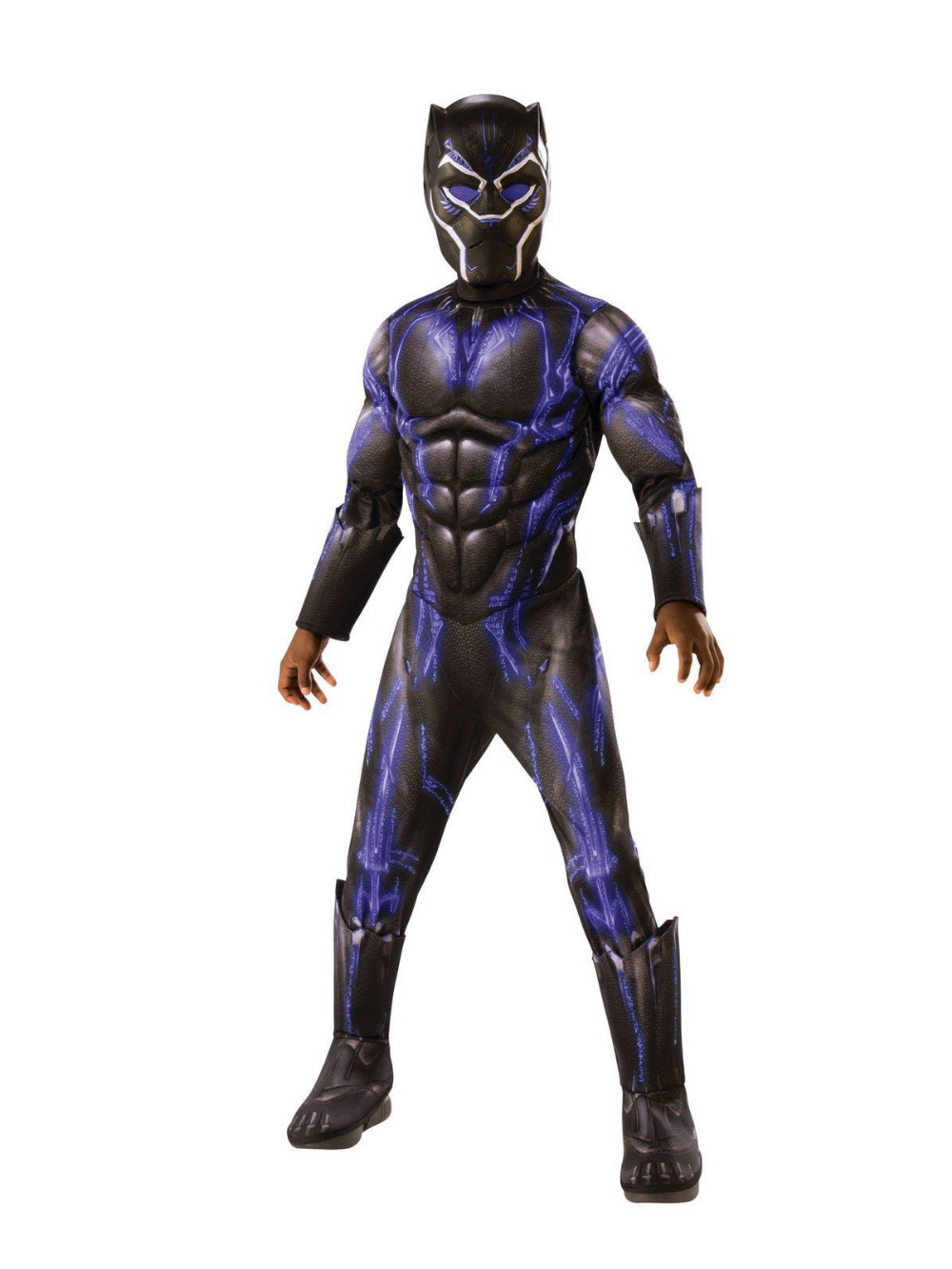 Avengers Endgame Black Panther Purple Battle Deluxe Child Costume Black Panther Halloween Costume Panther Costume Boy Costumes