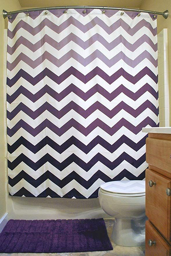 Amazon Com Dii Oceanique Shower Curtain 100 Polyester Machine Washable For Everyday Use Kids T Chevron Shower Curtain Shower Curtain Decor Shower Curtain