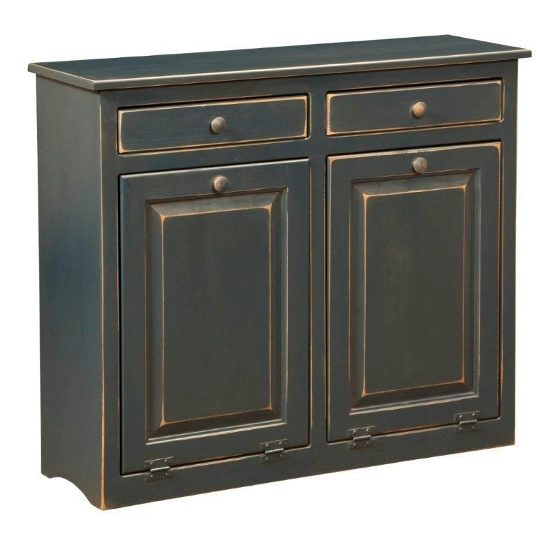Amish Large Pine Double Trash Bin | Trash bins, Pine and Kitchens
