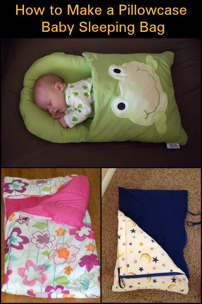 Make a sleeping bag out of a pillowcase