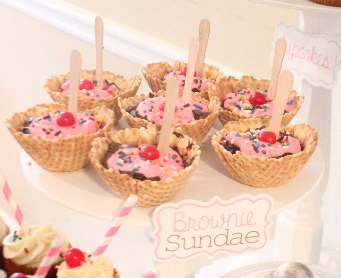 One of my Favorite Dessert Tables To Style! #IceCreamShoppe #TheSweetsBoutique