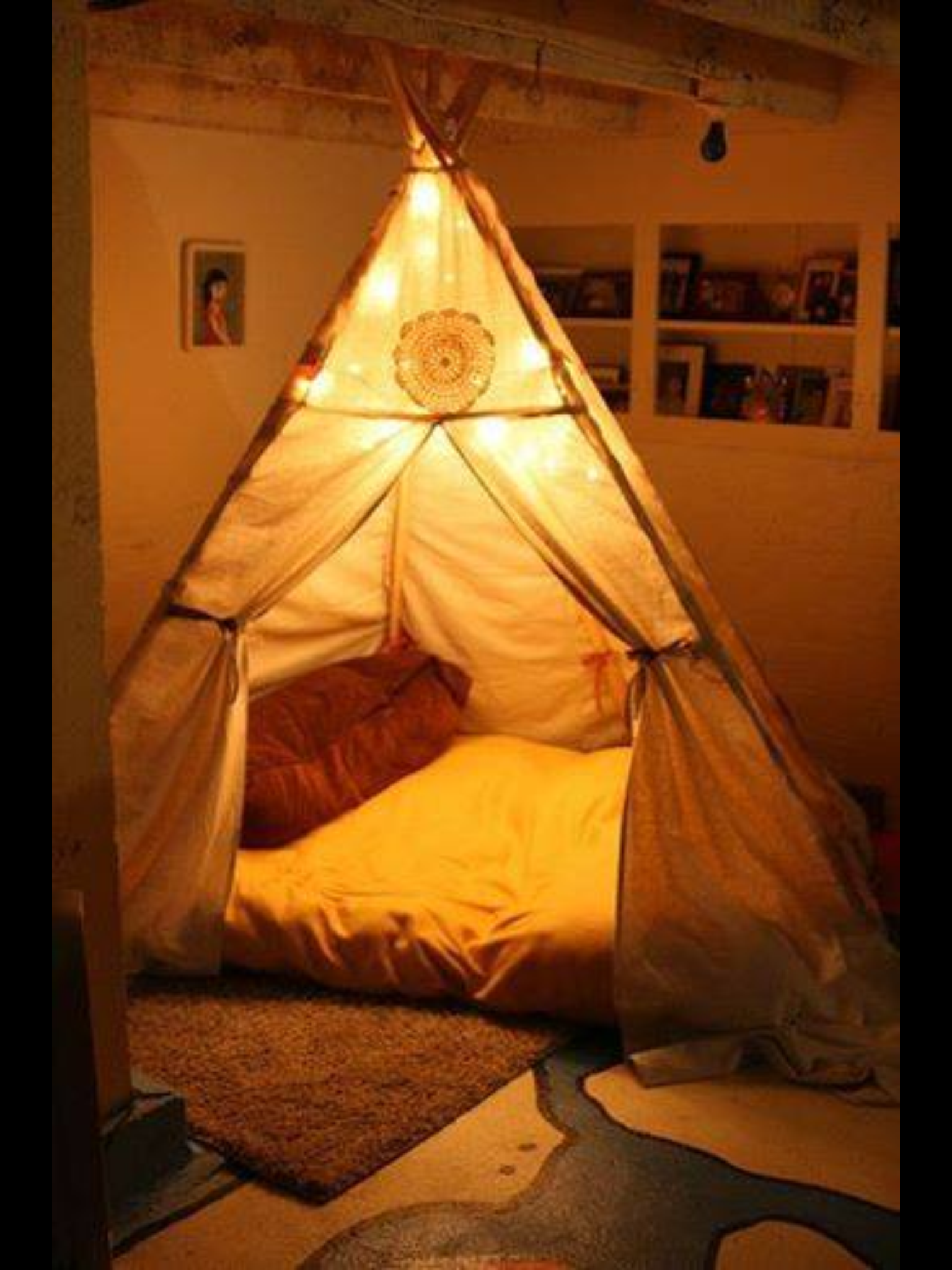 Teepee + Bed if your kids love teepees/forts if you love teepees/forts & Pin by L C on Cool things | Pinterest | Bedrooms