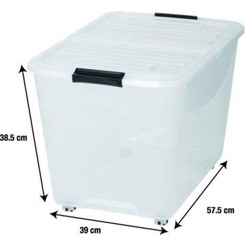 Boite De Rangement Top Box En Plastique 14 90 L 39 X P 57 5 X H 38 5 Cm 60 L Reference Leroy Merlin 6966877 Boite De Rangement Casier Rangement Rangement