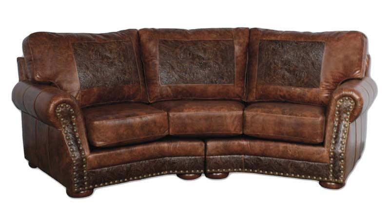 Awe Inspiring Leather Ranch Curved Sofa 553003 Western Sofas And Loveseats Forskolin Free Trial Chair Design Images Forskolin Free Trialorg