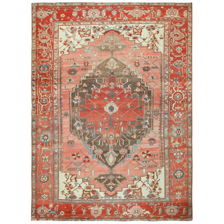 Room Size Antique Oriental Persian Serapi Rug Room Size Rugs