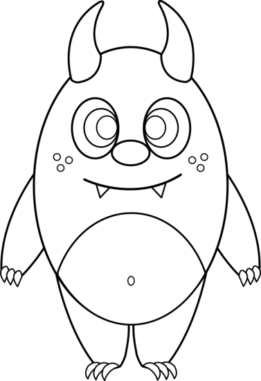 Silly Monster Coloring Page | Monster coloring sheets/crafts ...