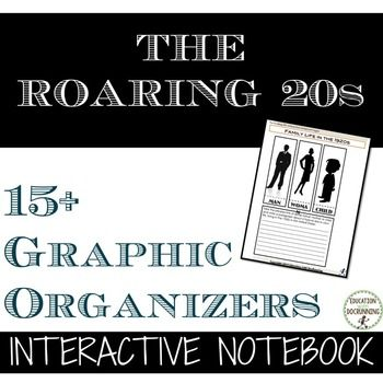 The Roaring Twenties: Interactive Notebook Pages is a set of templates and…