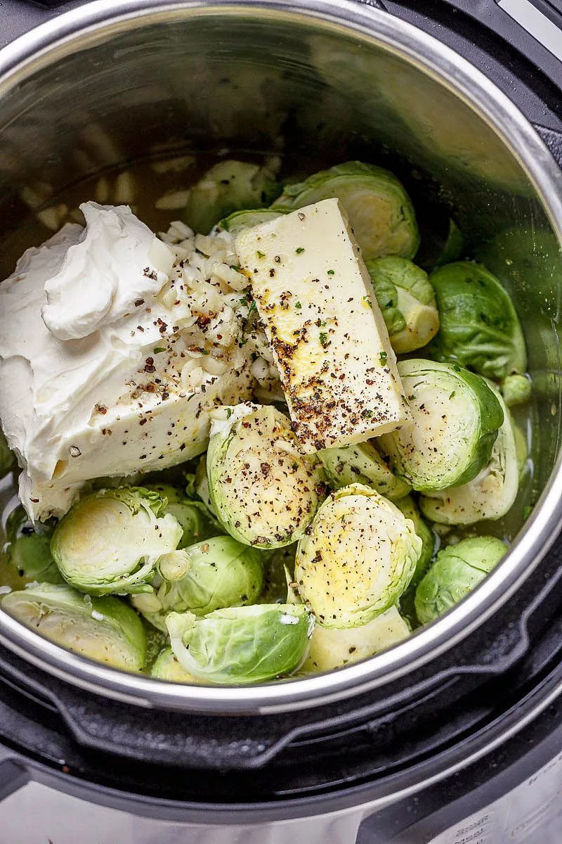 2-Minutes Instant Pot Creamy Brussels Sprouts with