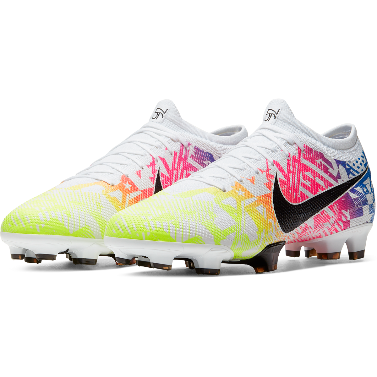 Nike Mercurial Vapor 13 Pro Njr Fg Soccer Cleat White Black Racer Blue Volt 5 5 In 2020 Soccer Cleats Nike Girls Nike Soccer Shoes Womens Soccer Cleats