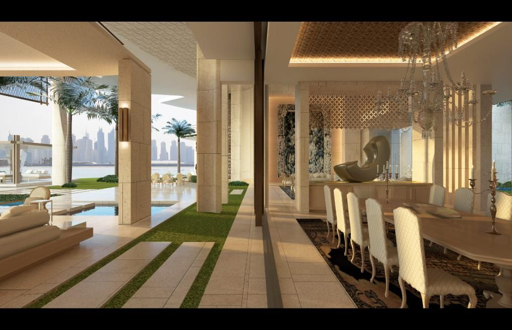 Modern home villa uae palm jumeirah dubai saota for Modern house uae