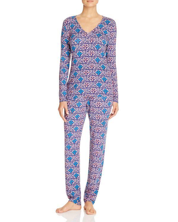 Josie Fountain Art Long Sleeve Pajama Set