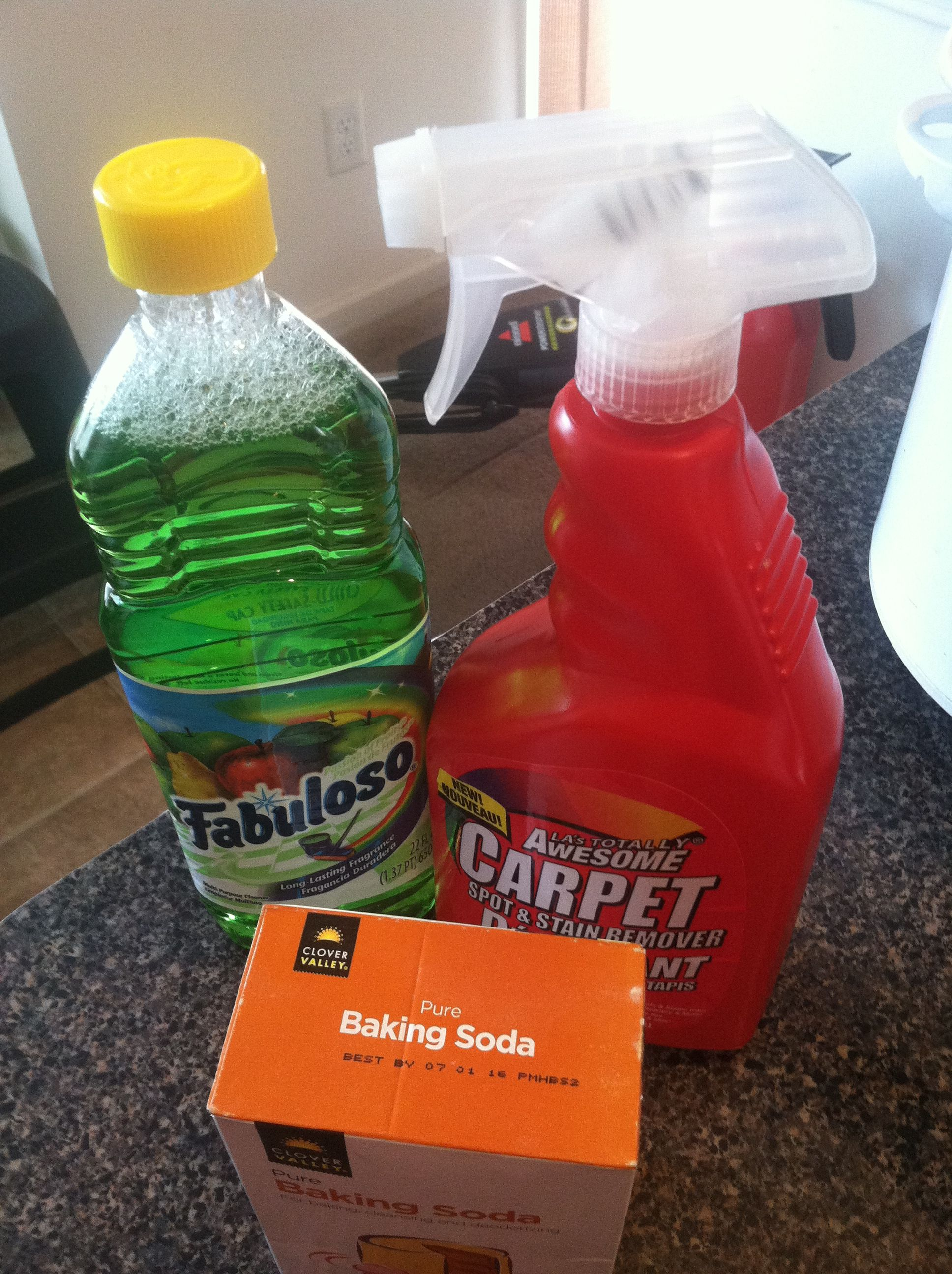 Do It Yourself Shampoo Carpet Cleaner This Was Purchased At The Dollar Tree Fabuloso And Baking Soda Just Add Water Total Cost 2 55