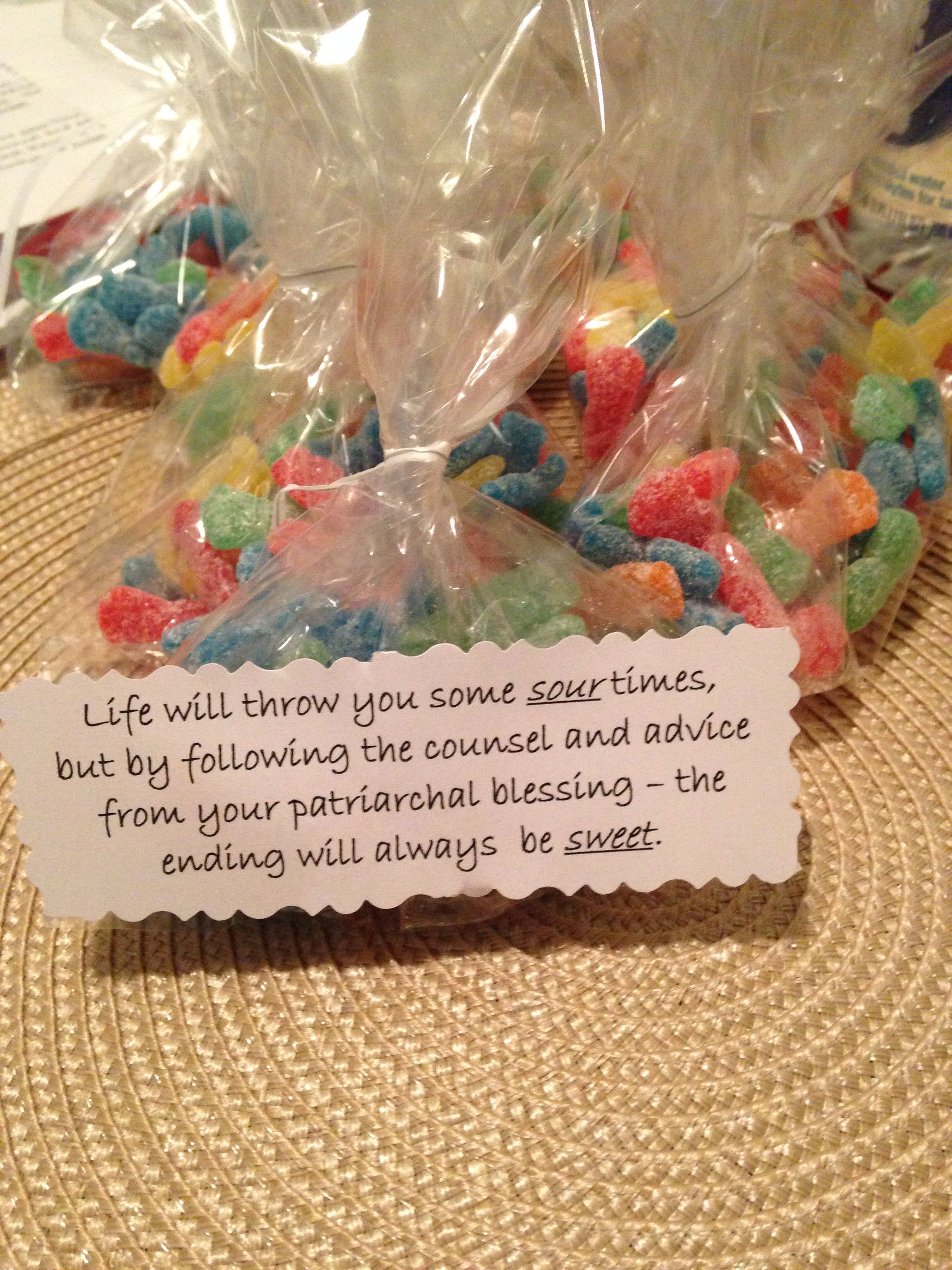 Patriarchal Blessing Handouts And Treats
