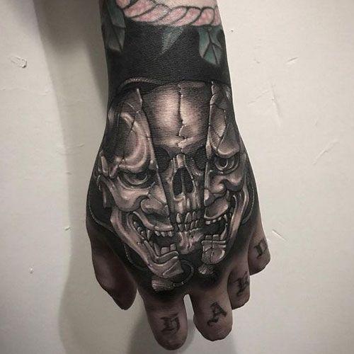 125 Best Skull Tattoos For Men Cool Designs Ideas 2020 Guide Hand Tattoos For Guys Skull Hand Tattoo Tattoos For Guys
