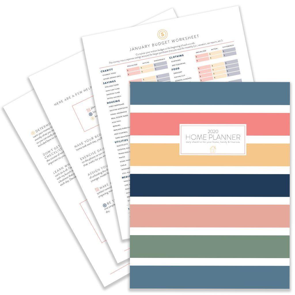 2020 Home Planner Pdf Download Home Planner Planner Budgeting