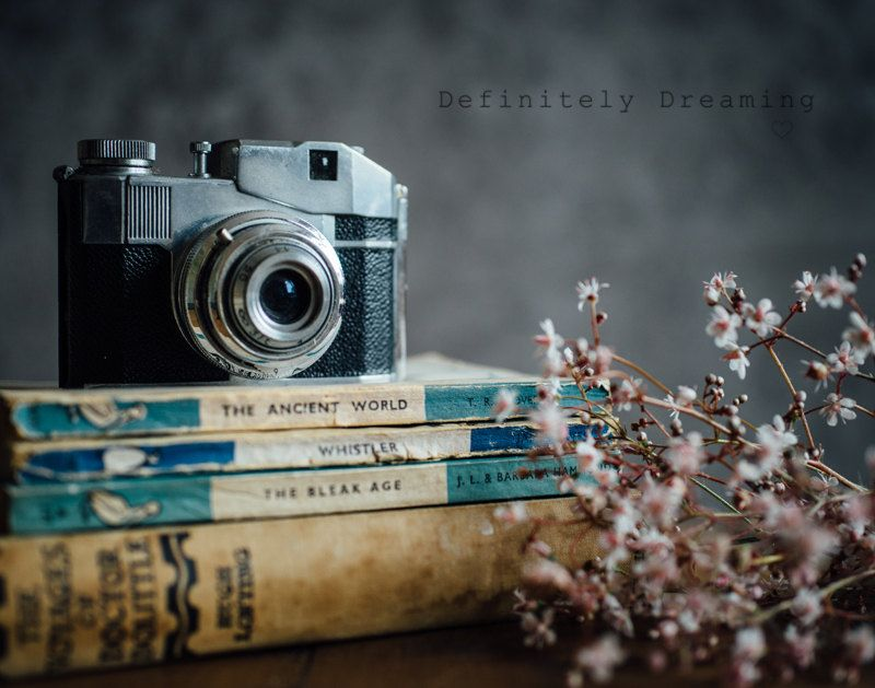 Www Definitelydreaming Com Photographic Art Still Life Photo Of Film Camera And Old Books F In 2020 Vintage Cameras Photography Camera Photography Still Life Photos