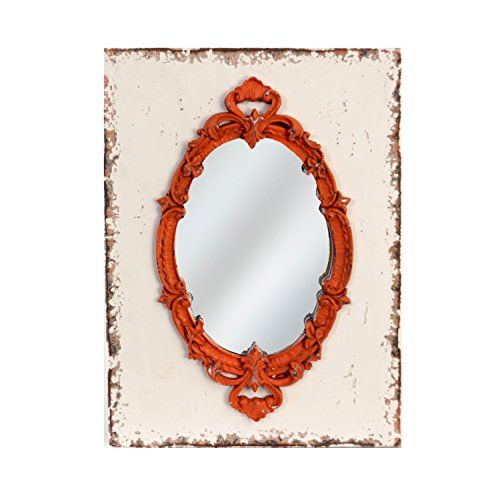 American Mercantile Wood Framed Mirror, Red | Vintage Wall Mirrors ...