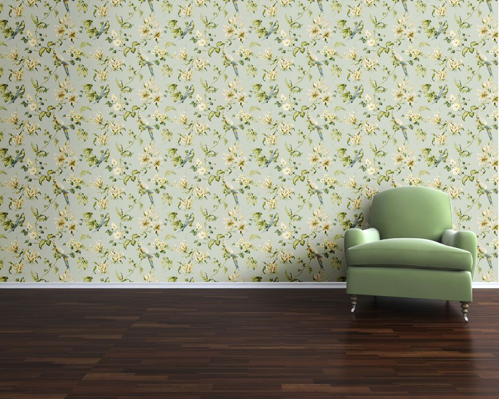 Tropical Floral Designer Wallpaper from Nilaya by Asian Paints
