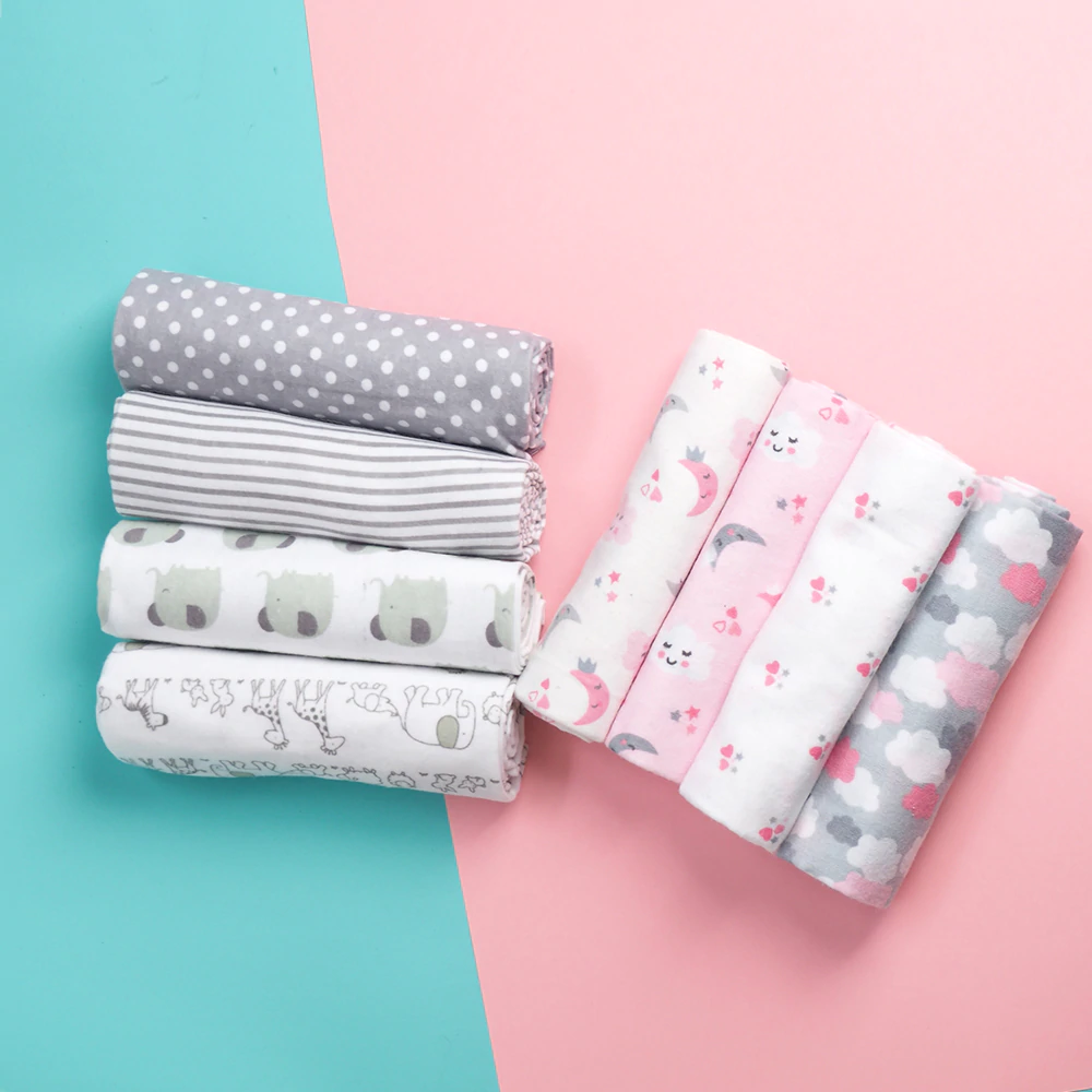 4 Pcs Lot 100 Cotton Flannel Receiving Baby Blanket Soft Baby Muslin Diapers Newborn Swaddle Blan In 2020 Newborn Swaddle Blanket Cotton Baby Blankets Newborn Swaddle