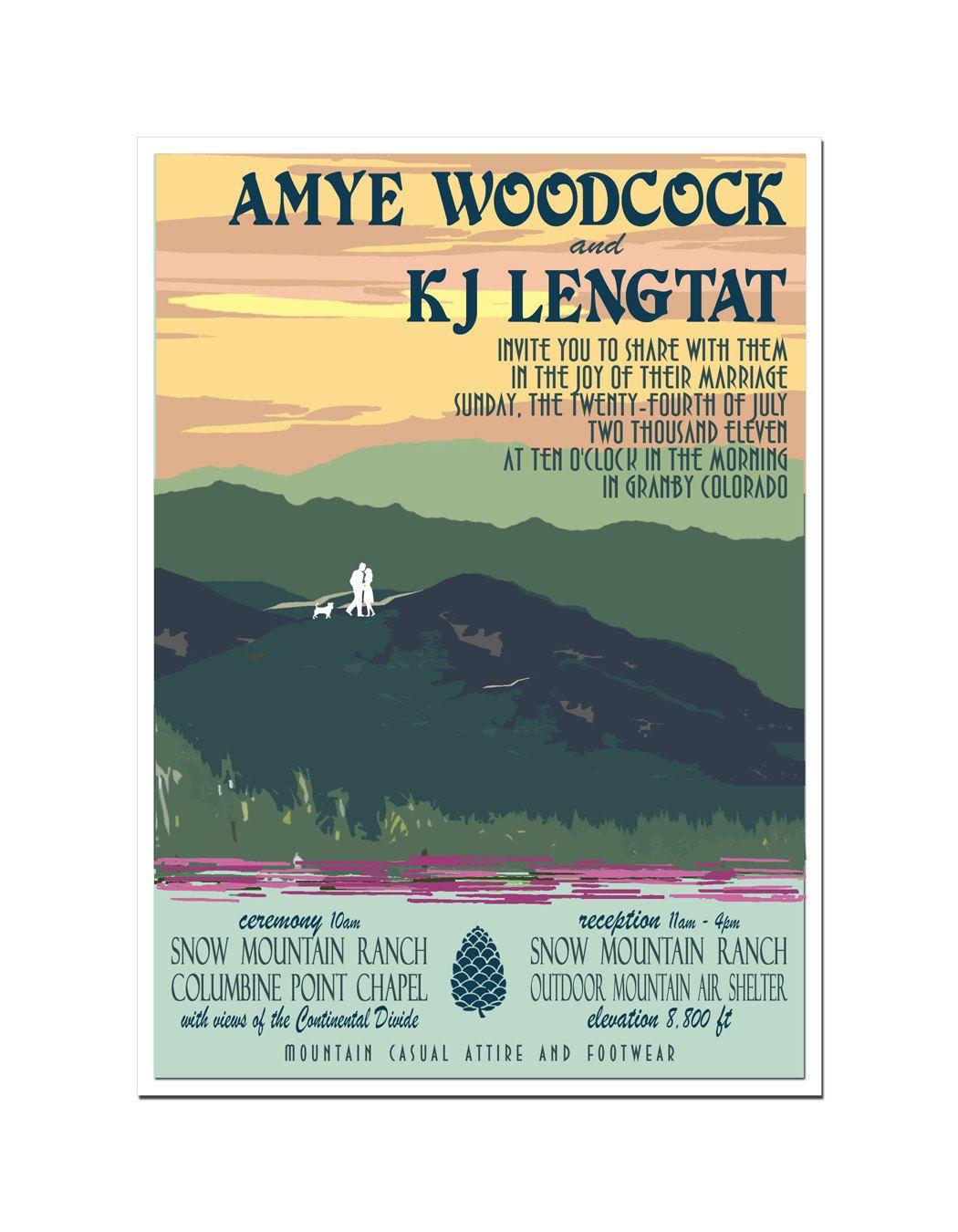 vintage-y poster invitation