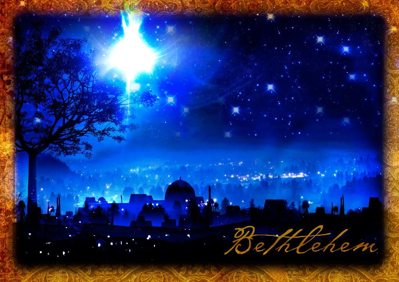 The Star Of Bethlehem Christmas Desktop Wallpapers Free Out Of