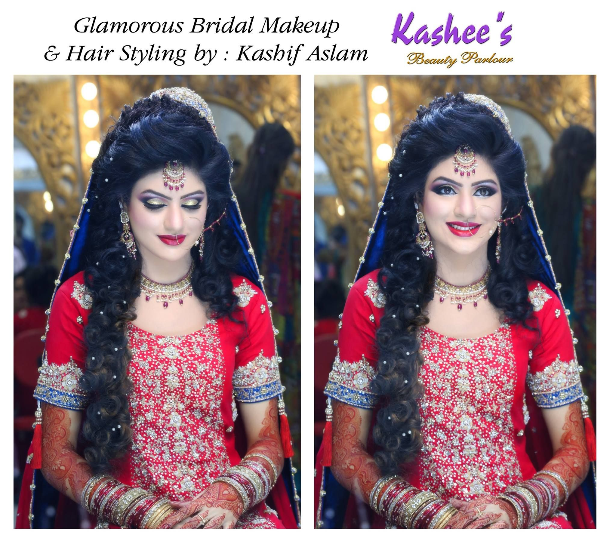 Glamorous bridal makeup and hair styling by kashif aslam ...