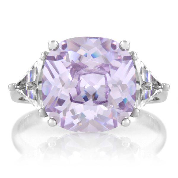 Women's 10 Carat CZ J Lo Inspired Lavender #Engagement #Ring 925 Sterling Silver #EngagementRing #LavenderRing #Jewelry