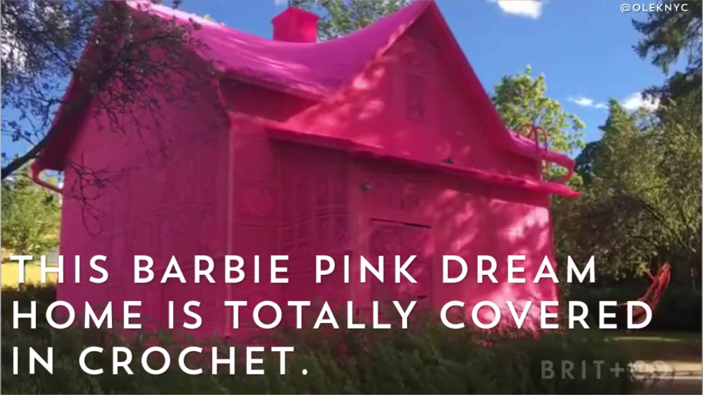 Photo of How amazing is this pink dream home covered in crochet?!