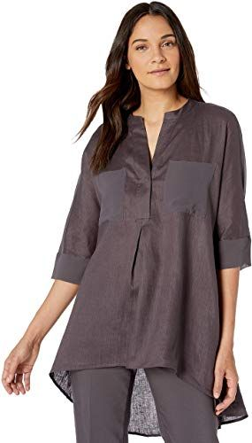 New Anne Klein Women's Linen Tunic online - Fortrendytoprated #linentunic