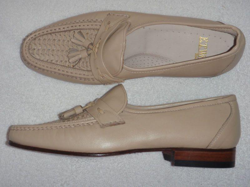 E. T. Wright cream colored loafers
