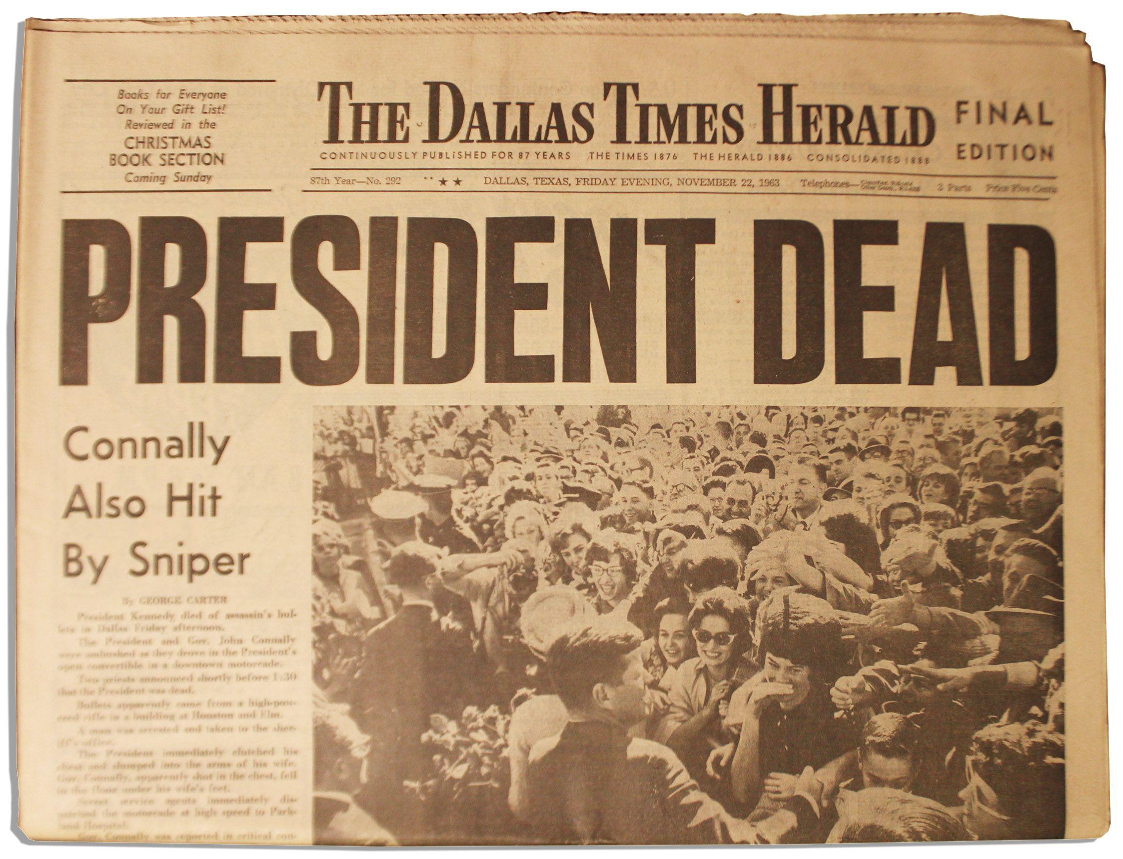 Historic Newspaper Headlines | Historic Copy of ''The ...