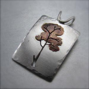 Beth Millner Jewelry — Layered Autumn Tree Pendant