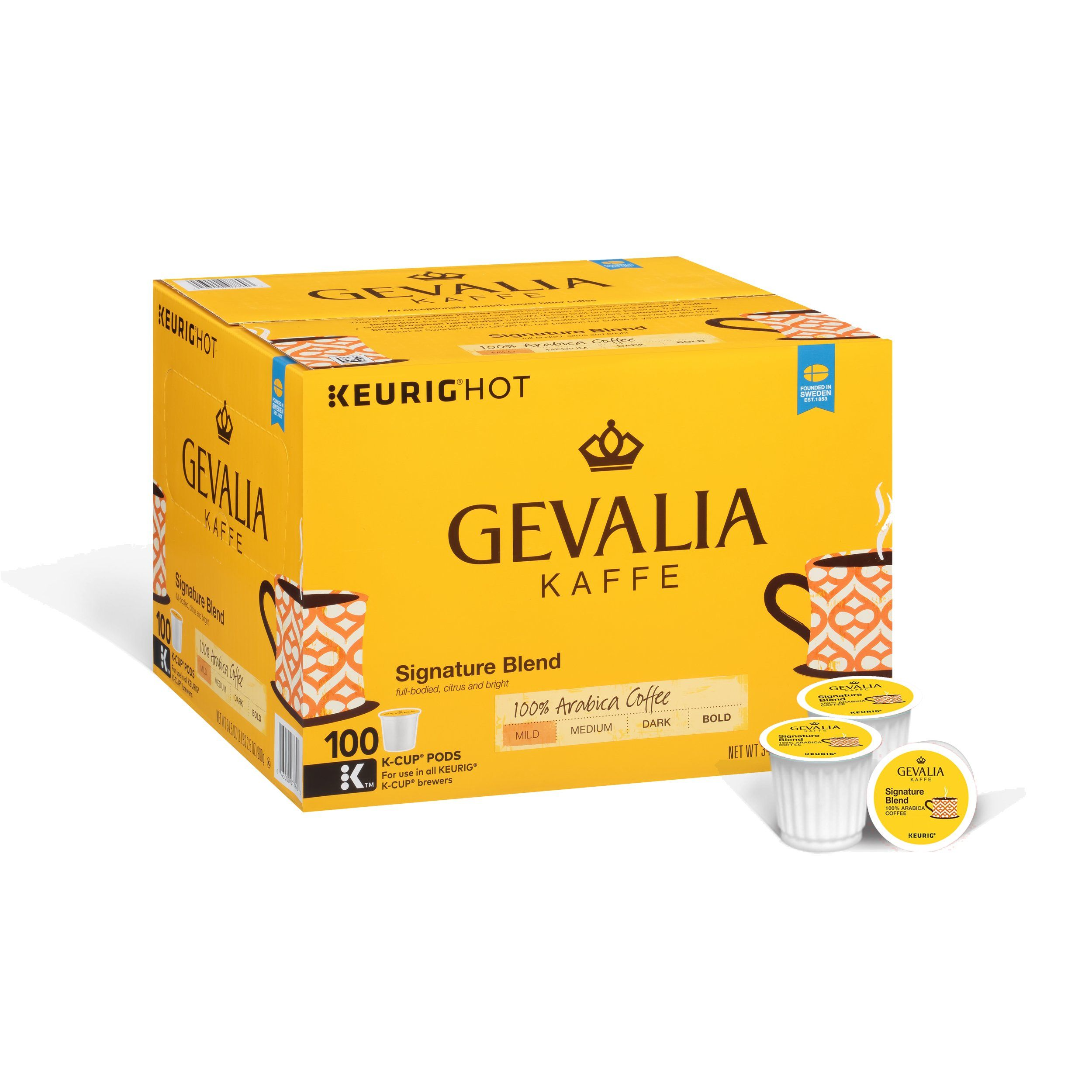 Gevalia Signature Blend Coffee KCUP Pods 100 Count * Be