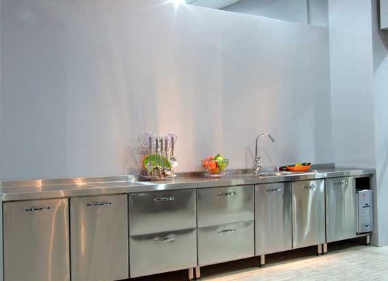 Stainless Steel Kitchen Cabinets for Family and Restaurant | Kitchen ...