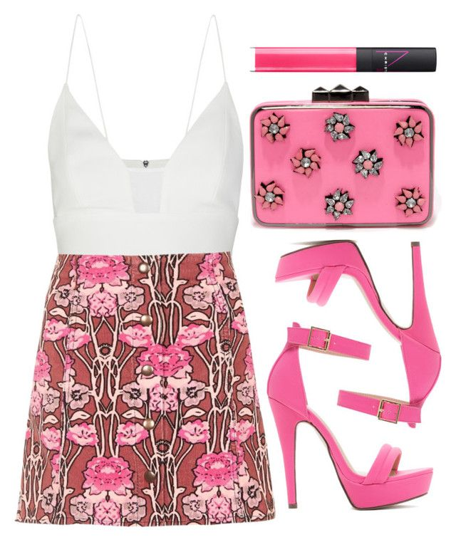 """""""Pink I Love"""" by preet111 ❤ liked on Polyvore featuring Narciso Rodriguez, Like Dreams, Topshop and NARS Cosmetics"""