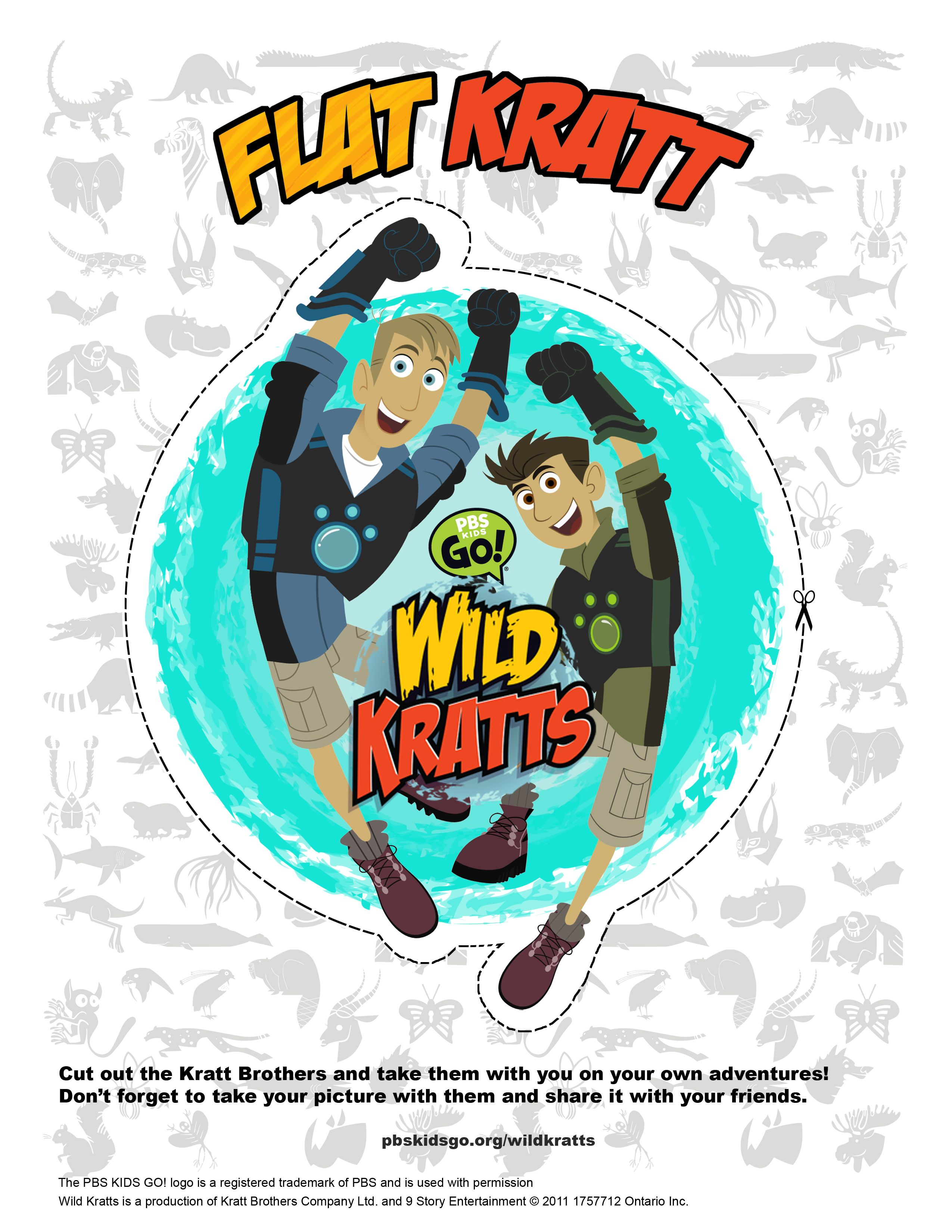Printable Figure To Take The Kratts With You