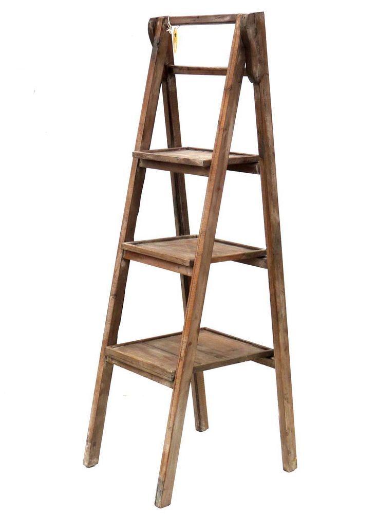 Style ancien escalier escabeau ancienne echelle tag re console porte plante b r o c a n t e - Escalier porte plante ...