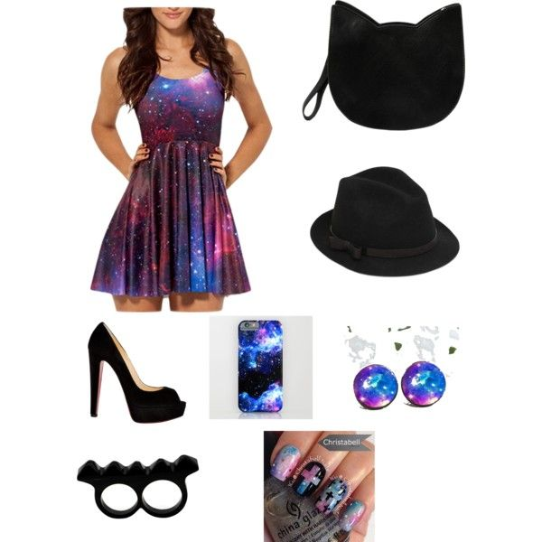 Galaxy Outfit by benue on Polyvore featuring polyvore fashion style Christian Louboutin Forever 21 L'Artisan Créateur RED Valentino