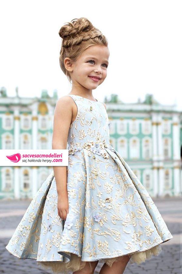 651ca9cb44685 çoçuk topuz saç modelleri Çocuk Kıyafetleri, Küçük Kız Saçı, Kız Elbiseleri,  Çocuk Modası