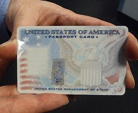 Passport card is the best option if you are travelling to