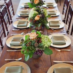An Italian themed winery wedding with farm tables and gorgeous fall ...