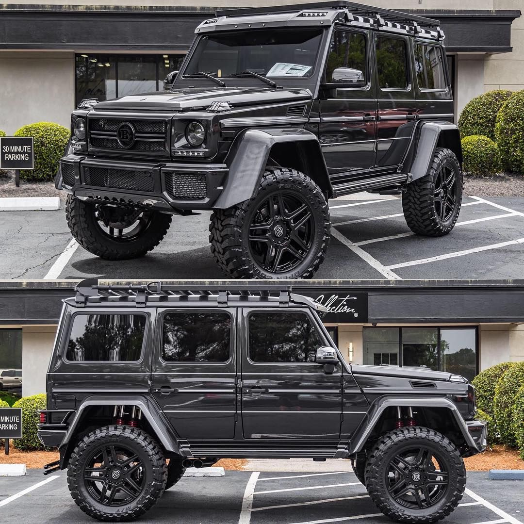 All Black 2017 Mercedes Benz G550 Brabus 4x4 Squared Mercedes