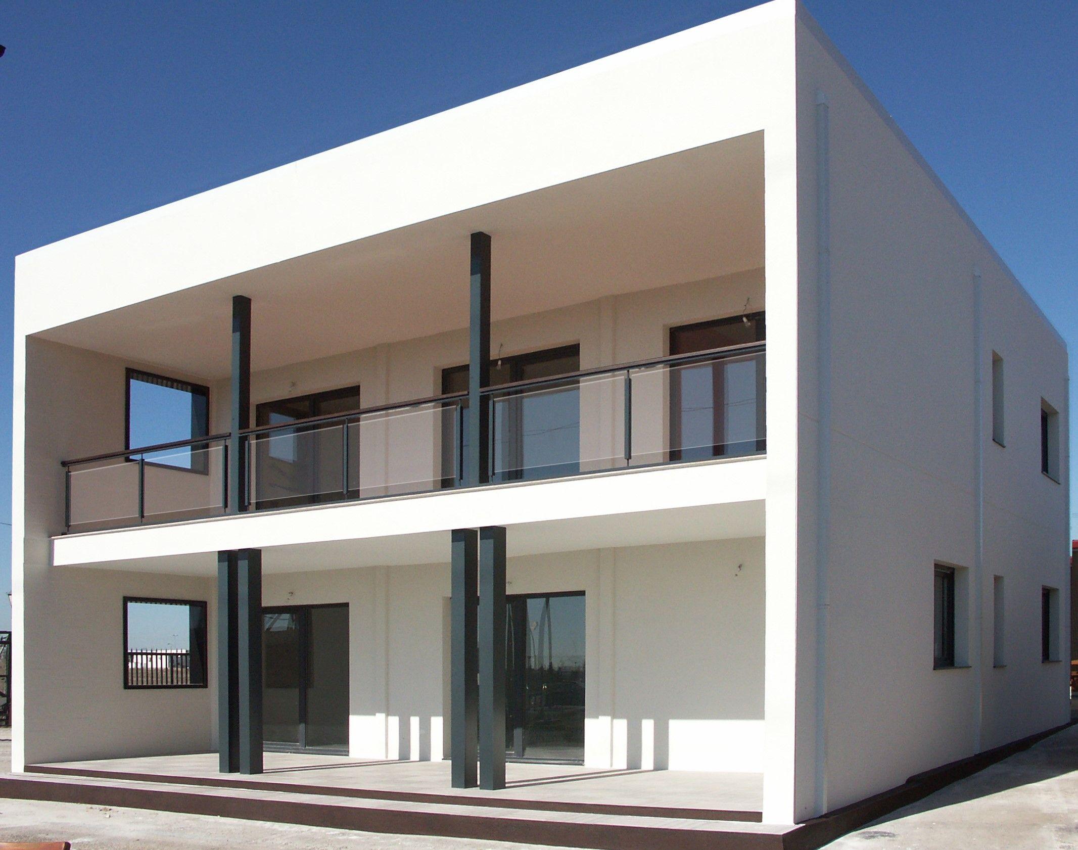 Casa prefabricada de acero y hormigon cubica estilo - Casas modulares de hormigon ...