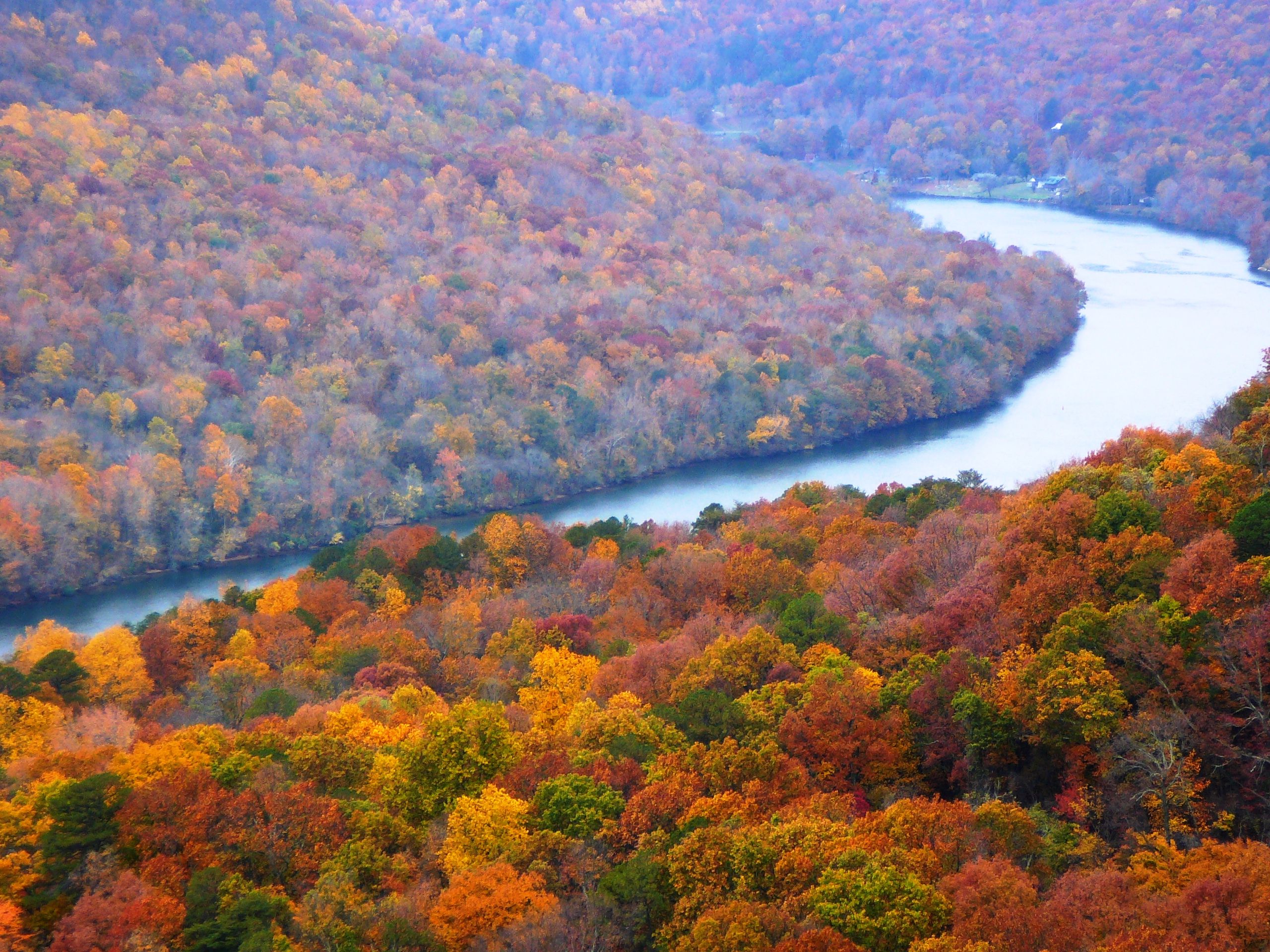 Fall at Signal Mountain, Tennessee a town in Hamilton County