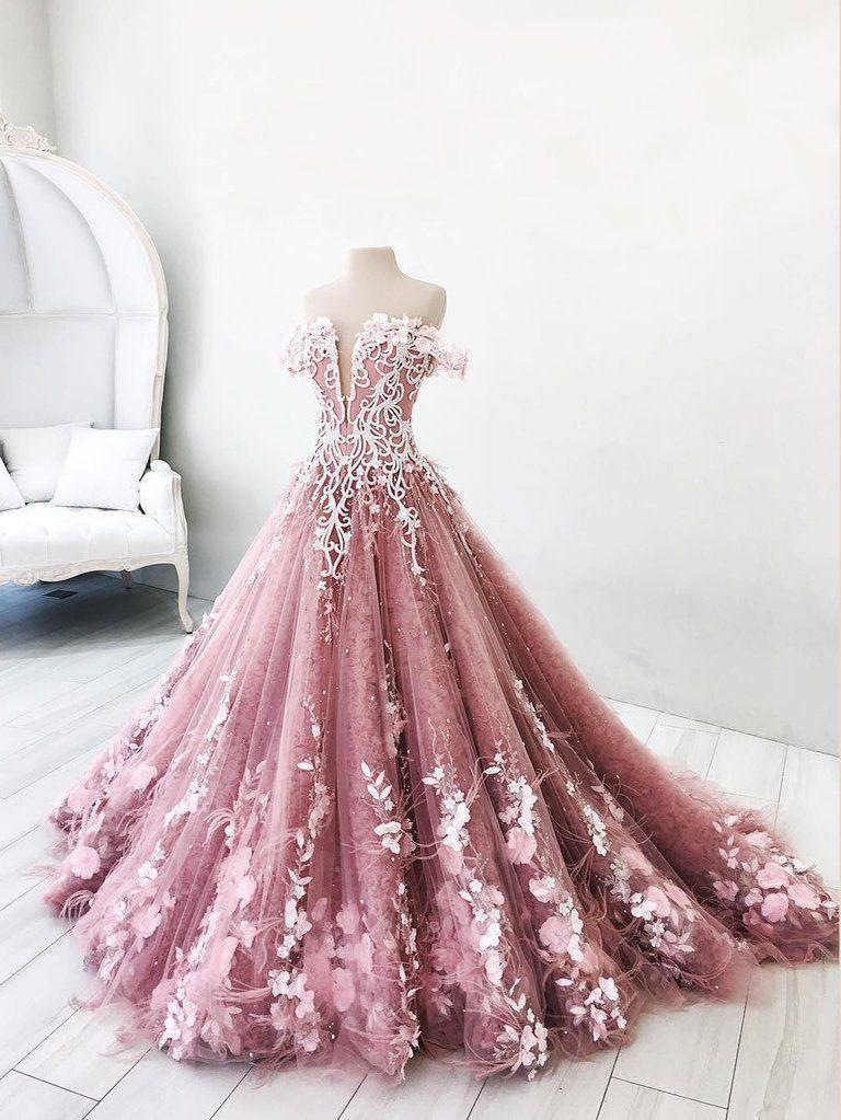 41fa424b07 Ball Gown Wedding Dresses Romantic Long Train Luxury Lace Big Bridal ...