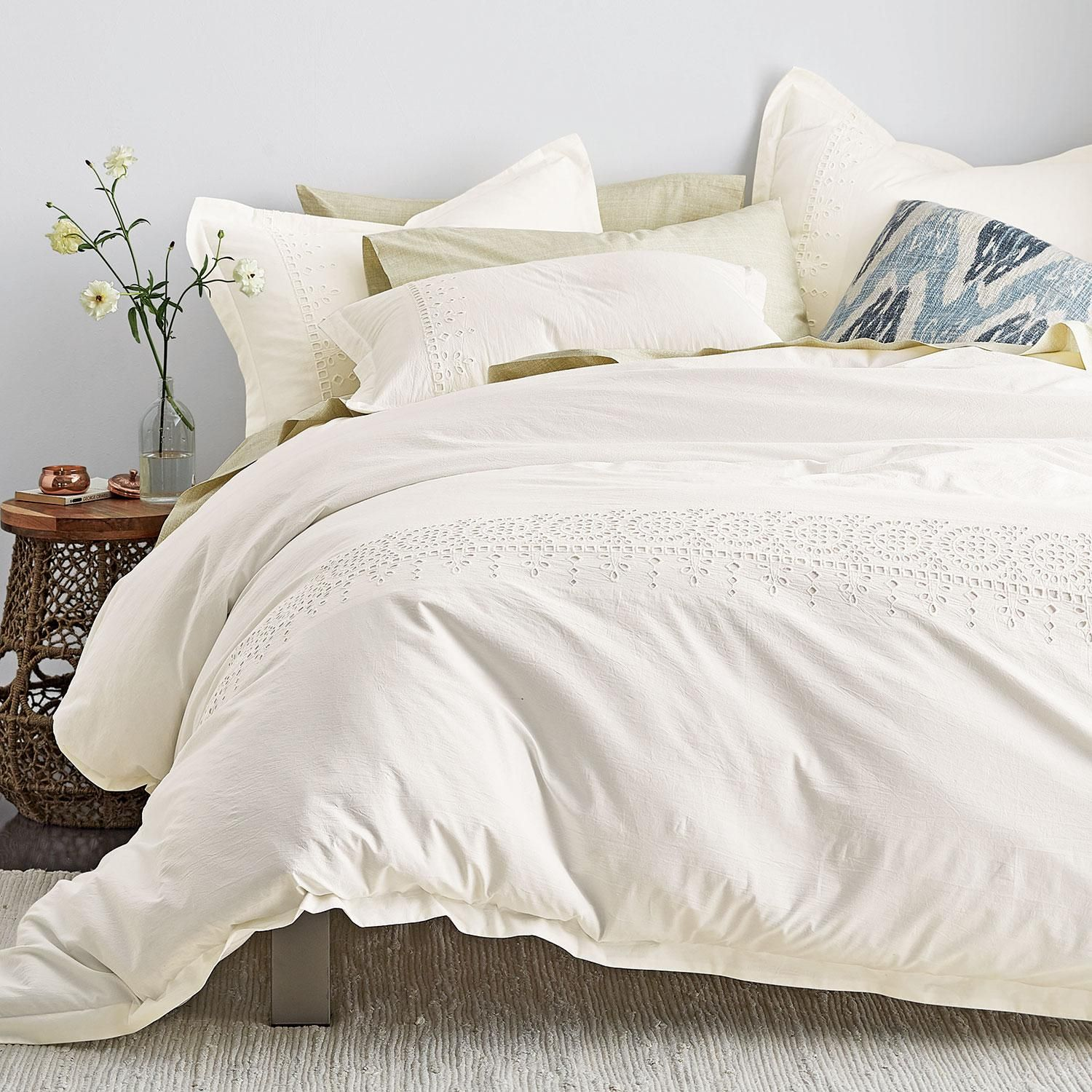 Emmie Duvet Cover Off White At The Company Store Bedding Duvet Covers Duvet Covers Queen Luxury Bedding Bed Linens Luxury Bedding Sets