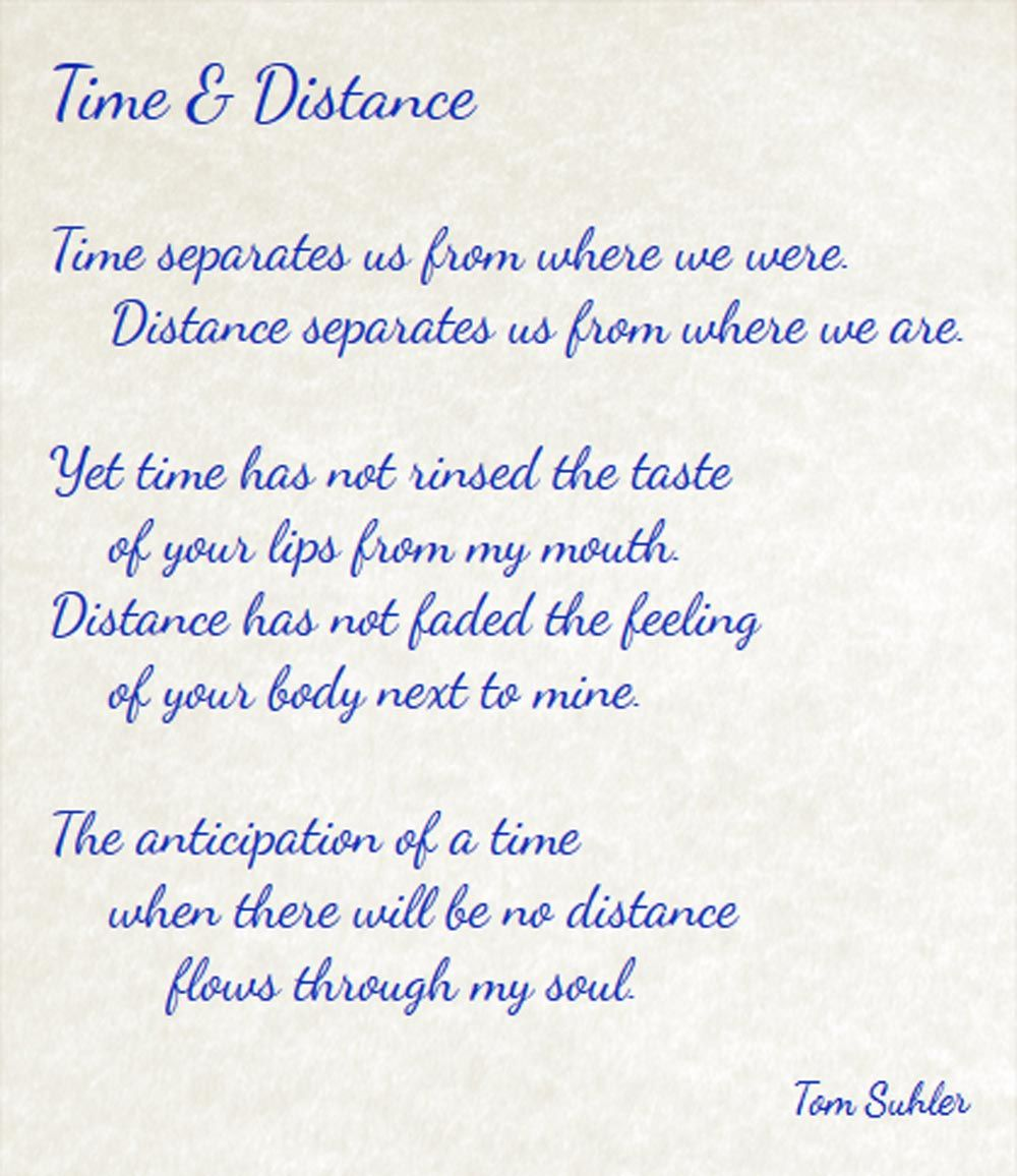 time and distance - never doubt i love - poem | Love poems