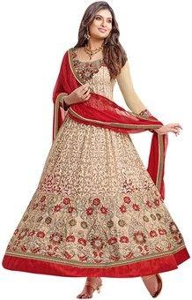 135b68e176 Vibes Georgette Self Design Semi-stitched Salwar Suit Dupatta Material:  Fabric