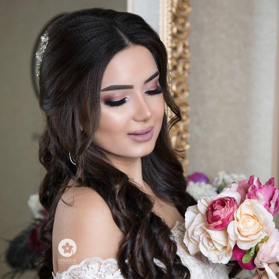 3 467 Likes 9 Comments Orxideya Beauty Center Vip Makeup Artist Afaq On Instagram Axsaminiz Xeyir Gozelimin Ma Evening Hairstyles Hair Styles Hairstyle