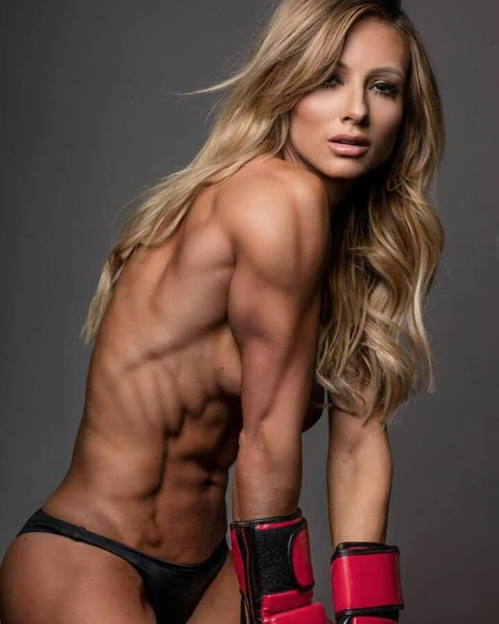 Ripped Girl Muscles Naked Shredded Bodybuilding Workout